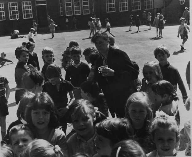 Children and Teacher at Cragside School by Torday