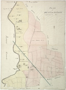 Heaton Estate Plan showing the burn to the North East