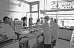 Maureen Waugh and Irene Garrett serving in Robinsons in 1960s