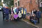 Members of Heaton History group, the Veitch family, the Smith family with the Lord Mayor and councillors.