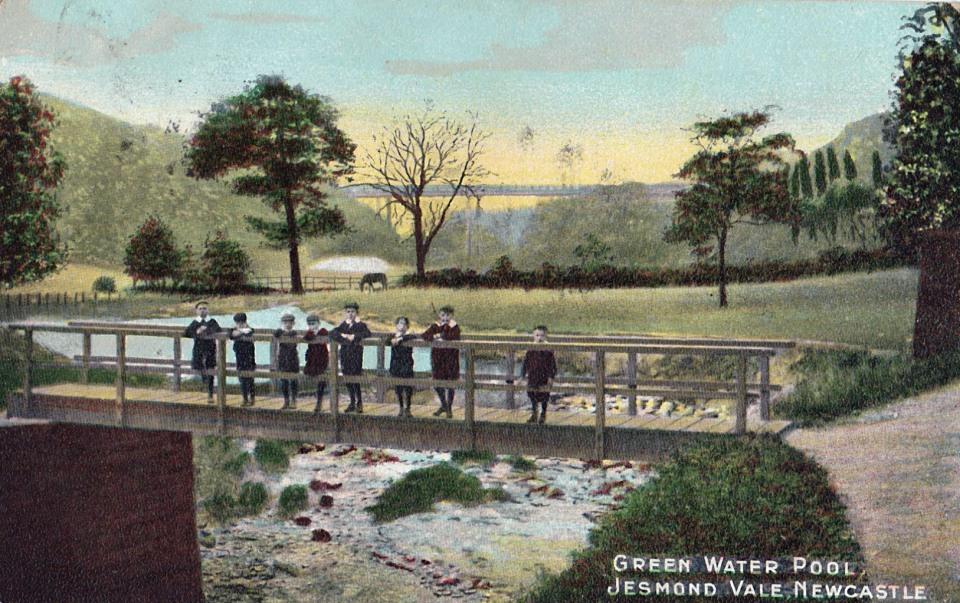 Green Water Pool, Jesmond Vale. Postcard published by Alexander Denholm Brash