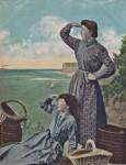Postcard of Cullercoats fishergirls, published by Alexander Brash