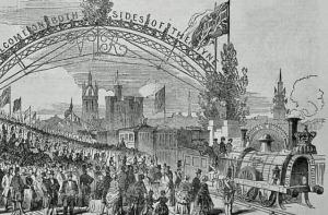 Queen Victoria's train in Newcastle