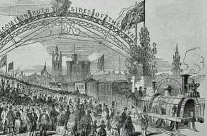 Queen Victoria's train in Newcastle