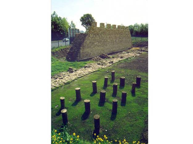 Reconstructed section of Hadrian's Wall, Wallsend