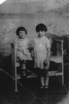 Christina and Mary Gazzilli Junior as children