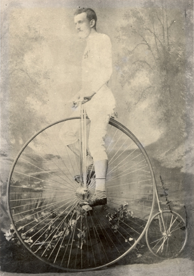 George Waller on Penny farthing
