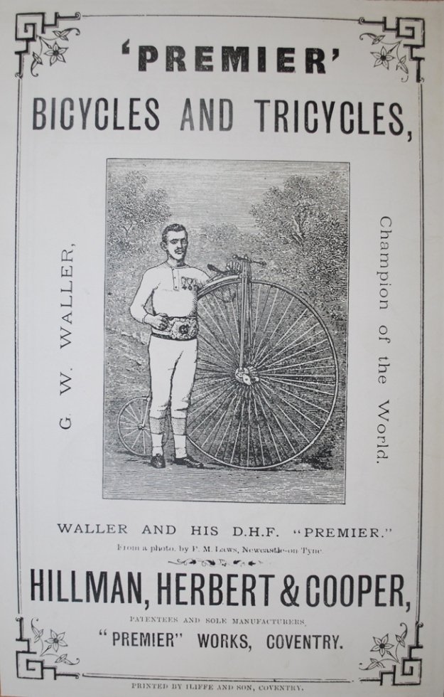 Waller used in advert for bike