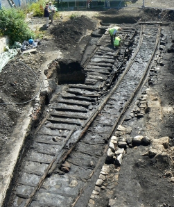 Bigges Main Waggonway excavation July 2013