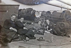 Aloysius Beers (extreme right) with other members of a ship's orchestra