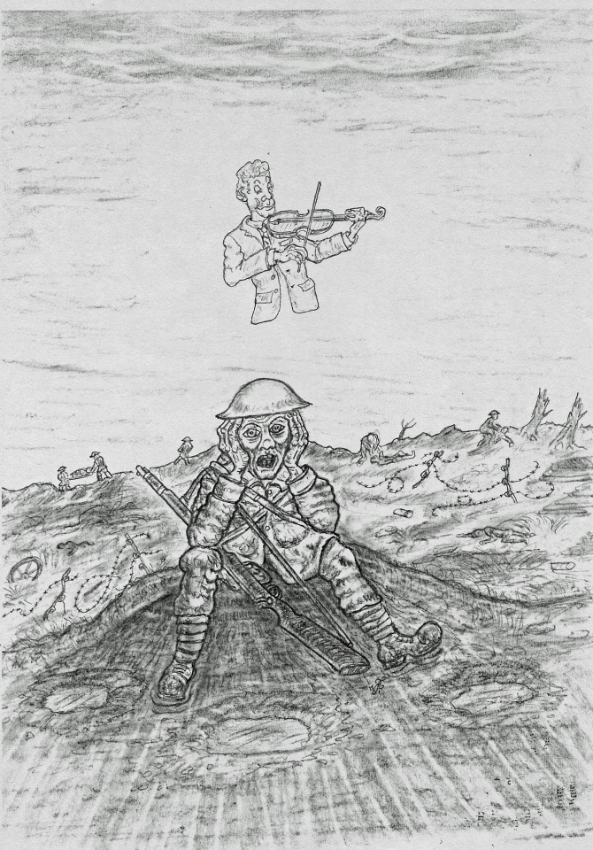 Sketch by Heaton History Group member, Mark James