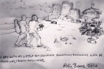 Sketch of the 'spying' incident by Robin Beers, Aloysius's grandson