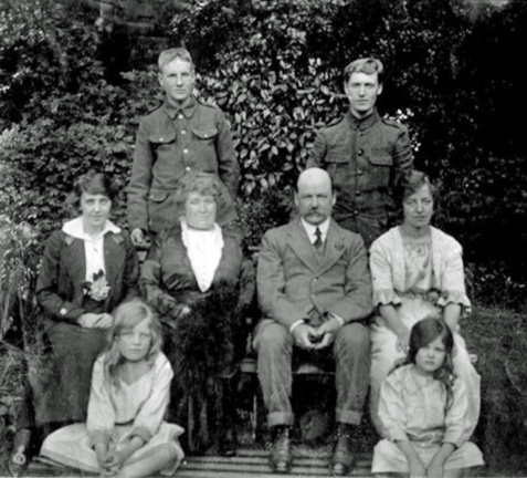 Robert and Margaret Armstrong with some of their family