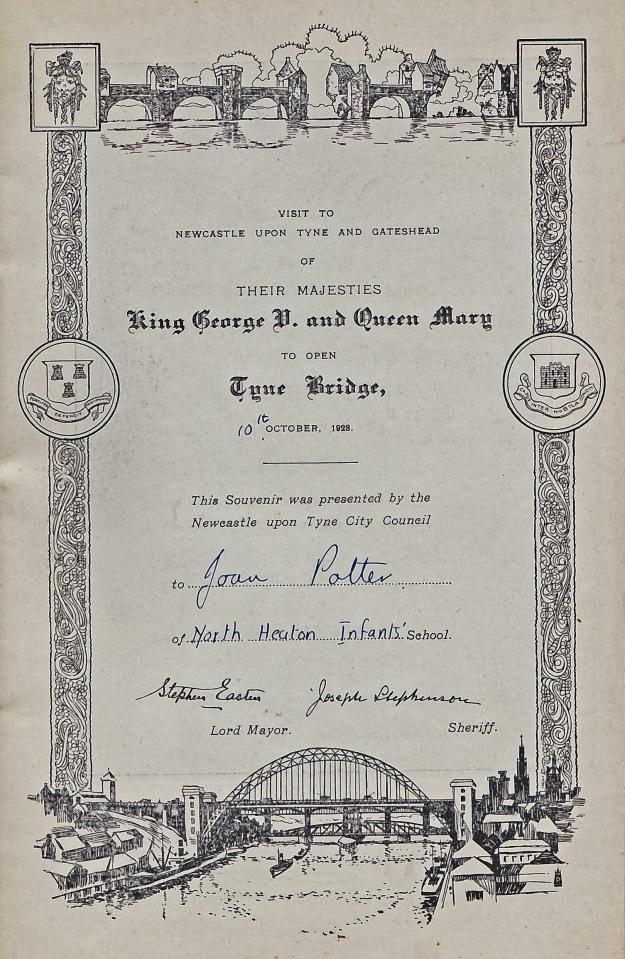Royal visit certificate