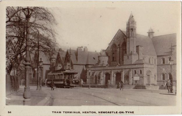 Tram terminus Heaton Rd