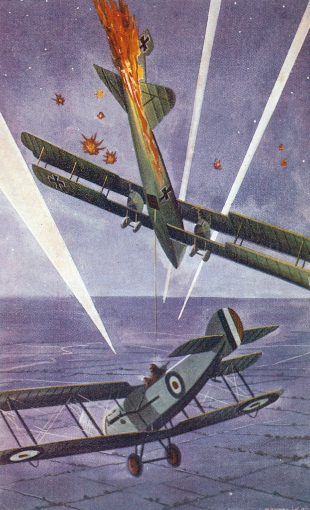 Aerial combat in WW1 by Howard Leigh