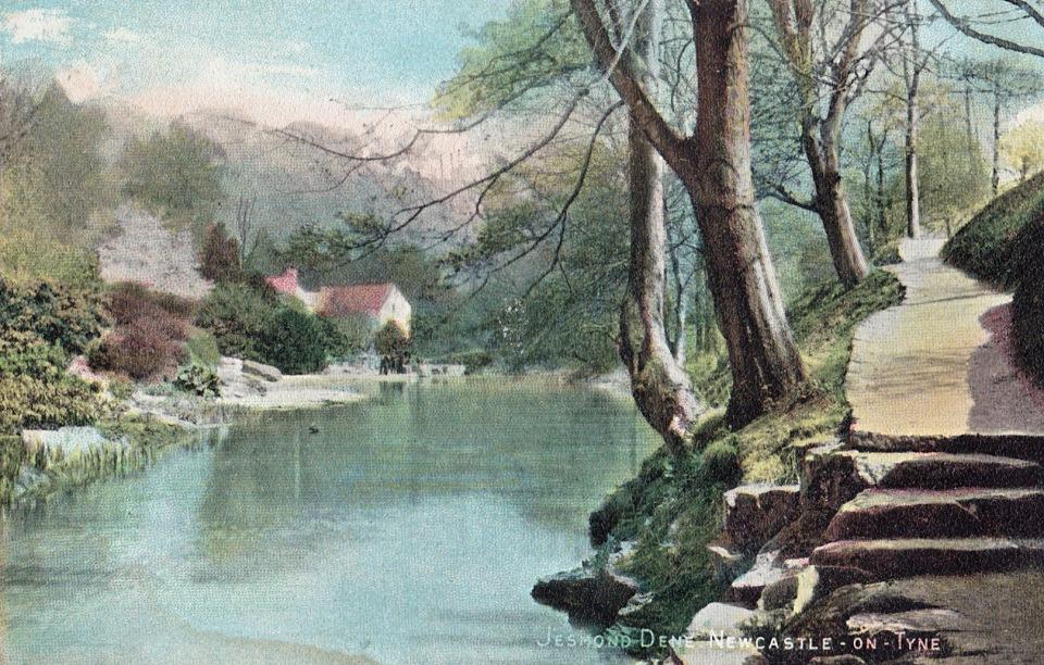 Early 20C postcard of Jesmond Dene, published by Alexander Brash of 92 Heaton Road