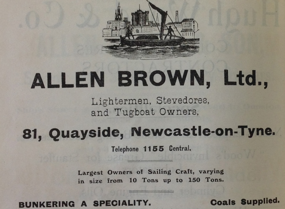 Ad for Allen Brown wherry owners