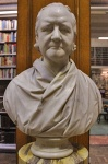 Bust of Charles Hutton by Sebastian Gahagan now in the Lit and Phil