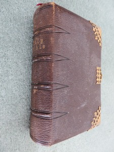 Bible presented to William Castle