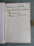 Inscription in William Castle's Bible