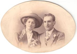 Nellie and Arthur Andrews on their wedding day