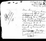 Margaret Robinson's letter requesting a plaque and Victory Medal for her son