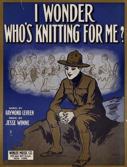 Knitting for the troops was promoted via popular culture