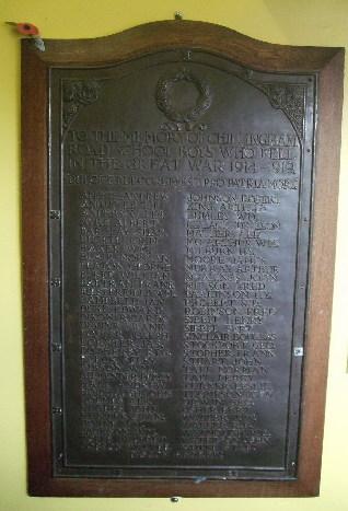 Chillingham Road School War Memorial