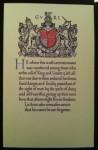 WW1 memorial scroll