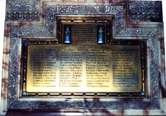 St Gabriel's Church War Memorial