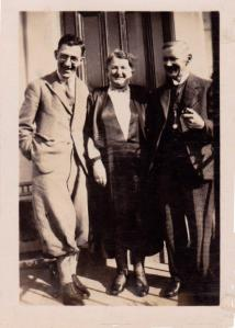 Henner Hudspeth with his mother and father