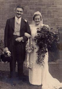 Henner and Nancy Hudspeth on their wedding day