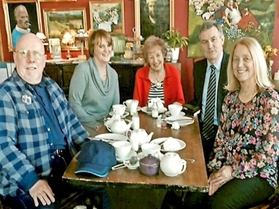Chillingham Road pupils and teacher reunion
