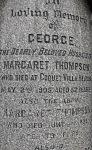 Inscription on Thompson family vault (detail)
