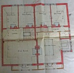 Hope and Maxwell's plans showing the attic billiard room at Coquet Villa