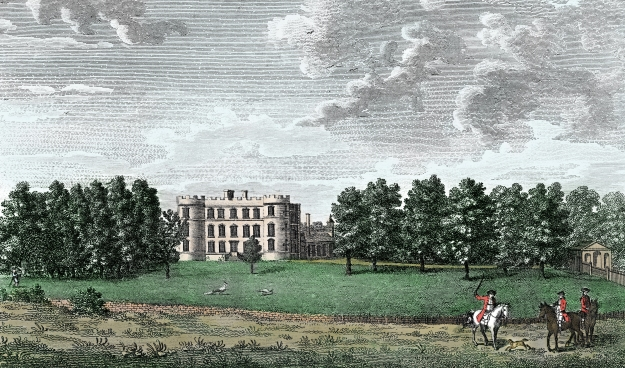 Heaton Hall, illustrated in 1795