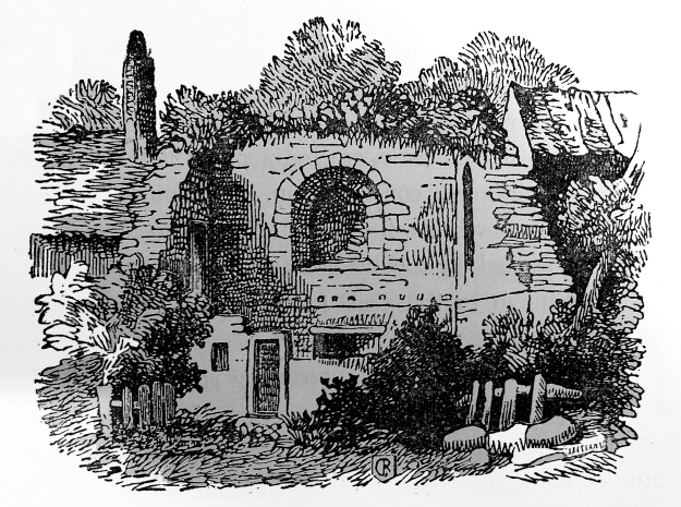 Nineteenth century engraving of King John's Palace