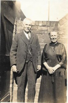 David and Isabella Wood in the backyard of their home in Seventh Avenue