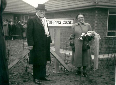 Francis Topping (left)had a road in Hartlepool named after him