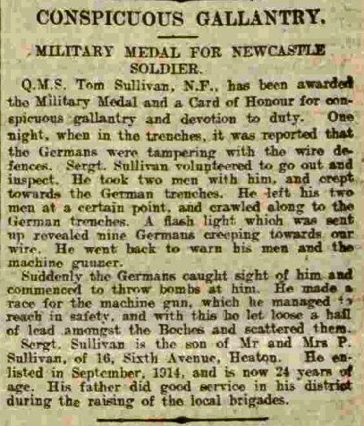 Newcastle Journal 18 November 1916