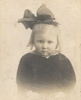 Olive as a young child