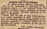 Joseph Fagg's letter to the press