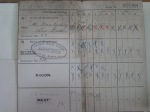 Detail from a WW1 ration card