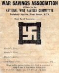 War Savings Association membership card