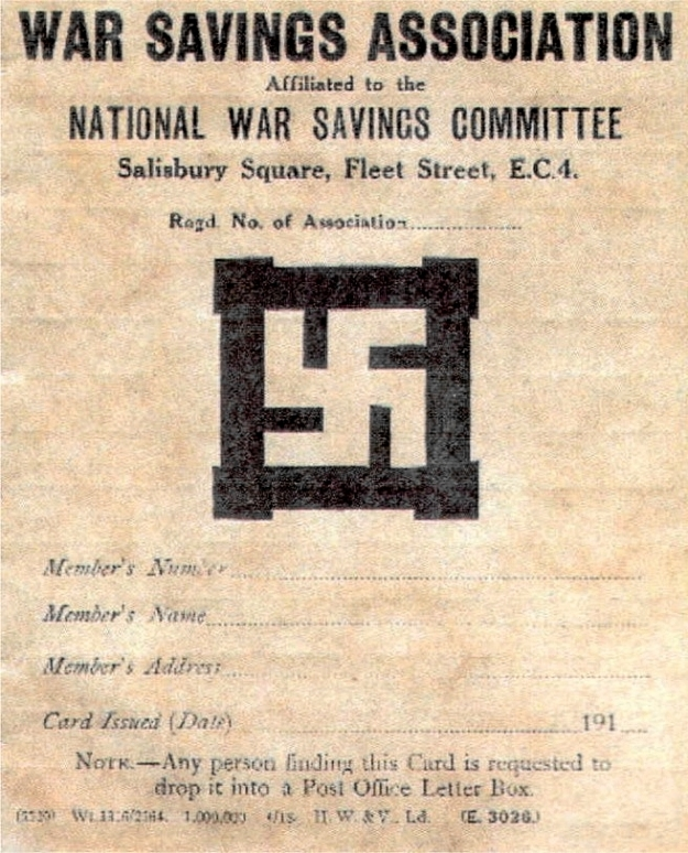 War Savings Association membership card