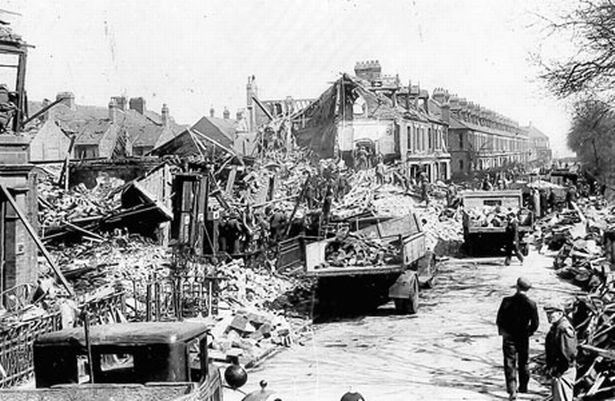 Bomb damage on Guildford Place