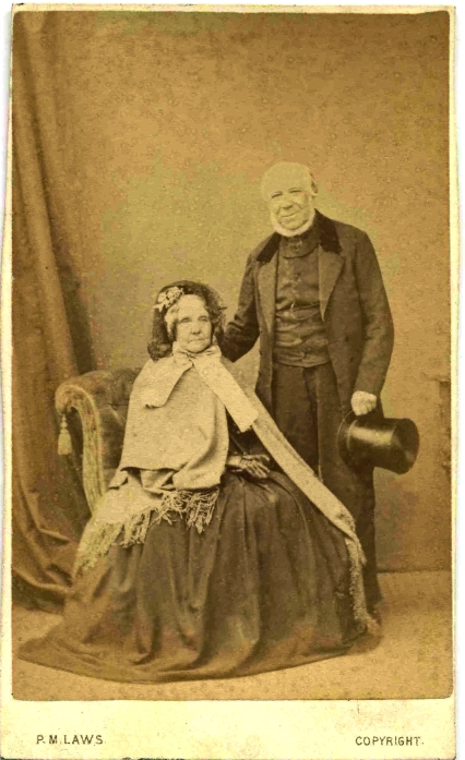 William and Sarah Laws c 1871F76