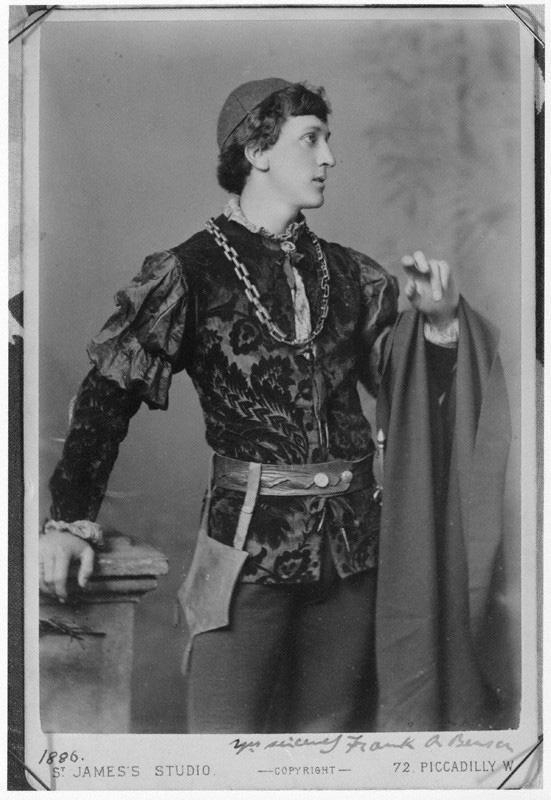 NPG x96407; Sir Francis Robert ('Frank') Benson as 'Romeo' in 'Romeo and Juliet' by Alexander Bassano