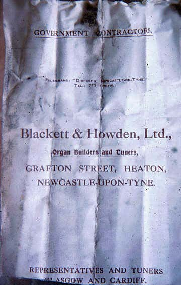 BlackettandHowdenReceiptPrince'sTheatre